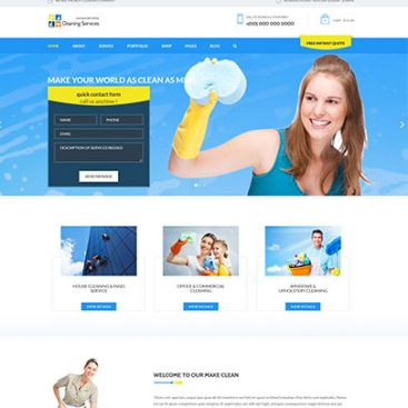 Cleaning Services Provider Website Designed & Developed By Herald Lynx Lahore Pakistan