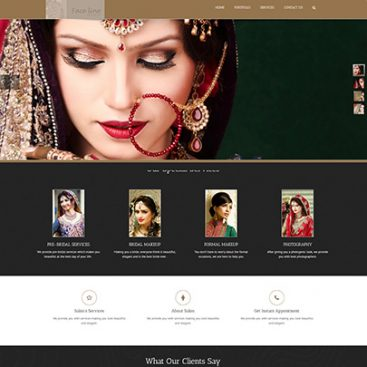 Faceline Salon Website Designed & Developed By Herald Lynx Lahore Pakistan