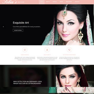 Sobias Salon Website Designed & Developed By Herald Lynx Lahore Pakistan